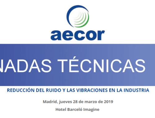 CALPE IT intervendrá en la jornada 'Reducción del ruido y las vibraciones en la industria' que organiza AECOR