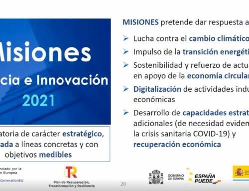 Webinar Convocatoria MISIONES CDTI 2021, organizado por Railway Innovation Hub
